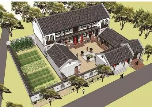 河北社会民生  本方案设计源于北方地区传统的院落式住宅,为二进院落